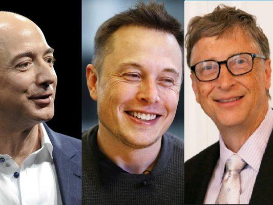 Bill Gates Elon Musk Jeff Bezos
